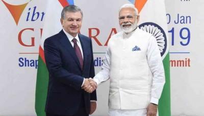 Президент Республики Узбекистан встретился с Премьер-министром Республики Индия